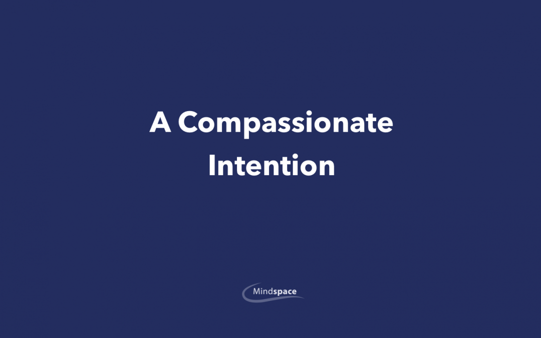 A Compassionate Intention.