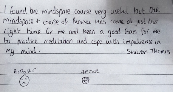 Reviews from the Mindspace+ Patience course